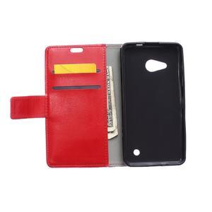 GX koženkové puzdro pre mobil Microsoft Lumia 550 - červené - 3