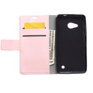 GX koženkové puzdro pre mobil Microsoft Lumia 550 - ružové - 3