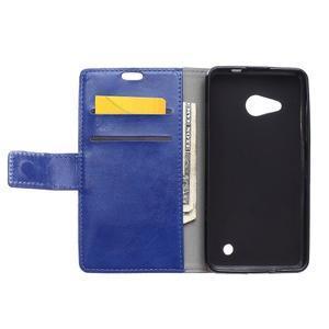 GX koženkové puzdro pre mobil Microsoft Lumia 550 - modré - 3