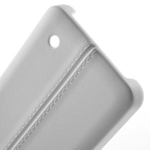 Lines gélový kryt so švy na Microsoft Lumia 550 - biely - 3