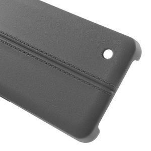 Lines gélový kryt so švy na Microsoft Lumia 550 - šedý - 3