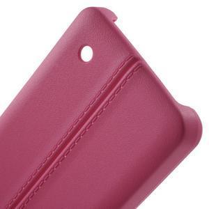 Lines gélový kryt so švy na Microsoft Lumia 550 - rose - 3
