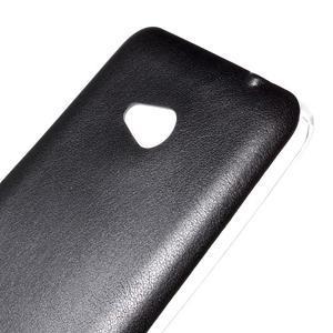 Gélový kryt s imitáciou kože pre Microsoft Lumia 640 - čierny - 3