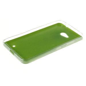 Gélový kryt s imitáciou kože pre Microsoft Lumia 640 - zelený - 3