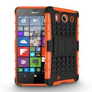 Outdoor odolný kryt pre mobil Microsoft Lumia 950 - oranžový - 3