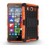Outdoor odolný kryt pre mobil Microsoft Lumia 950 - oranžový - 3/3