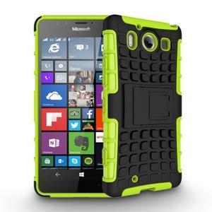 Outdoor odolný kryt pre mobil Microsoft Lumia 950 - zelený - 3
