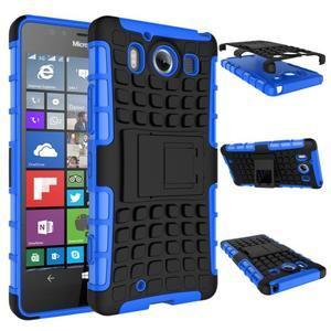 Outdoor odolný kryt na mobil Microsoft Lumia 950 - modrý - 3