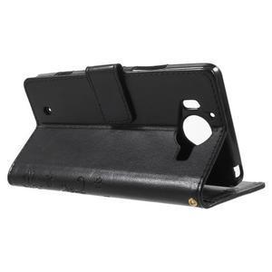 Butterfly PU kožené puzdro pre Microsoft Lumia 950 - čierne - 3