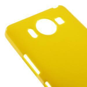 Jelly gélový obal pre Microsoft Lumia 950 - žltý - 3