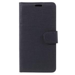 Cloth Peňaženkové puzdro pre mobil Microsoft Lumia 950 - čierne - 3