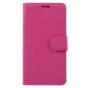 Cloth peněženkové pouzdro na mobil Microsoft Lumia 950 - rose - 3