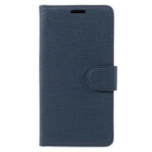 Cloth Peňaženkové puzdro pre mobil Microsoft Lumia 950 - tmavomodré - 3