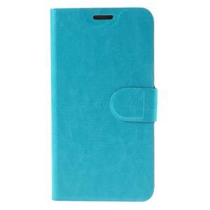 Horse PU kožené puzdro pre mobil Microsoft Lumia 950 - modré - 3