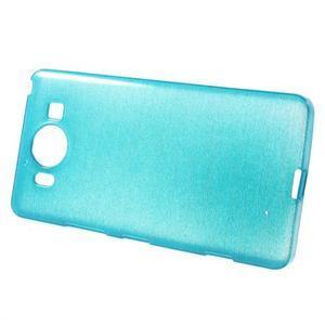 Brush hladký gelový obal na Microsoft Lumia 950 - modrý - 3