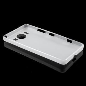 Matný gélový obal pre Microsoft Lumia 950 - biely - 3
