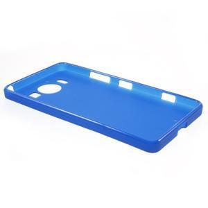 Matný gelový obal na Microsoft Lumia 950 - modrý - 3
