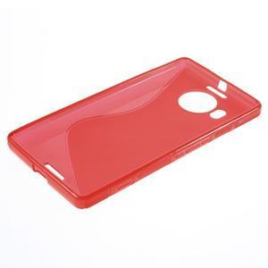 S-line gélový obal pre mobil Microsoft Lumia 950 XL - červený - 3