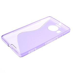 S-line gélový obal pre mobil Microsoft Lumia 950 XL - fialový - 3