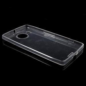 Ultratenký gélový obal pre Microsoft Lumia 950 XL - Transparentný - 3
