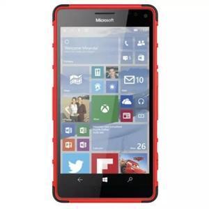 Odolný outdoor obal pre mobil Microsoft Lumia 950 XL - červený - 3
