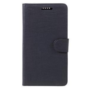 Cloth PU kožené puzdro pre mobil Microsoft Lumia 950 XL - čierne - 3