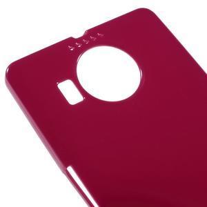 Jelly lesklý gélový obal pre mobil Microsoft Lumia 950 XL - červený - 3
