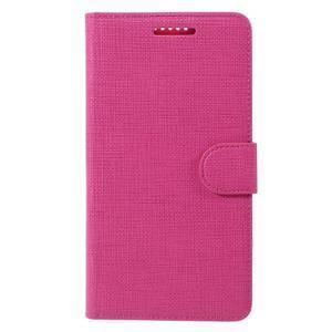 Cloth PU kožené pouzdro na mobil Microsoft Lumia 950 XL - rose - 3