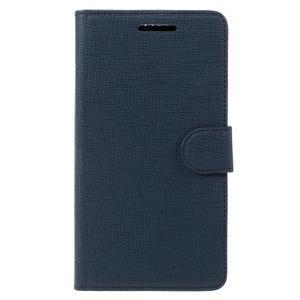 Cloth PU kožené pouzdro na mobil Microsoft Lumia 950 XL - tmavěmodré - 3