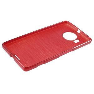 Brushed gélový obal pre mobil Microsoft Lumia 950 XL - červený - 3