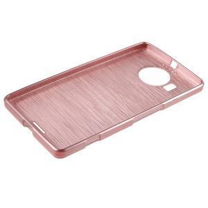 Brushed gélový obal pre mobil Microsoft Lumia 950 XL - ružové - 3