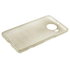 Brushed gélový obal pre mobil Microsoft Lumia 950 XL - zlatý - 3