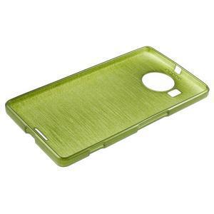 Brushed gélový obal pre mobil Microsoft Lumia 950 XL - zelený - 3