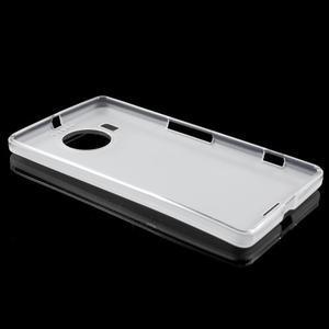 Matný gélový obal pre mobil Microsoft Lumia 950 XL - biely - 3