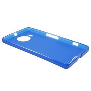 Matný gélový obal pre mobil Microsoft Lumia 950 XL - modrý - 3