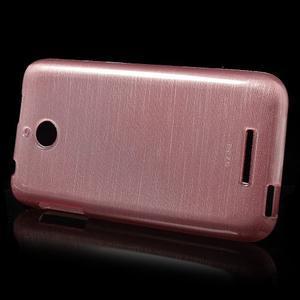 Brushed hladký gelový obal na HTC Desire 510 - růžový - 3