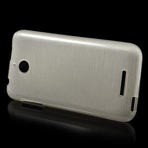 Brushed hladký gelový obal na HTC Desire 510 - zlatý - 3