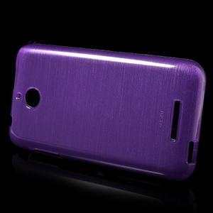 Brushed hladký gélový obal pre HTC Desire 510 - fialový - 3