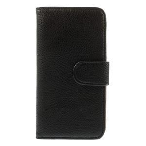 Folio PU kožené pouzdro na mobil HTC Desire 510 - černé - 3