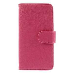 Folio PU kožené pouzdro na mobil HTC Desire 510 - rose - 3