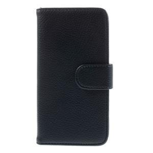 Folio PU kožené puzdro pre mobil HTC Desire 510 - tmavomodré - 3