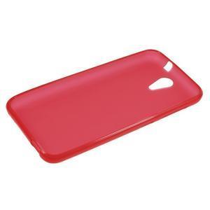 Matný gélový obal pre mobil HTC Desire 620 - červený - 3