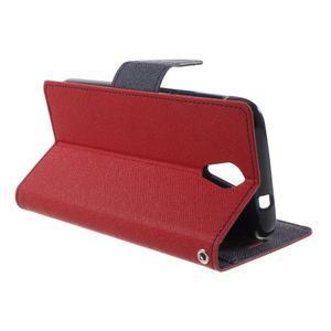 Diary PU kožené puzdro pre mobil HTC Desire 620 - červené - 3