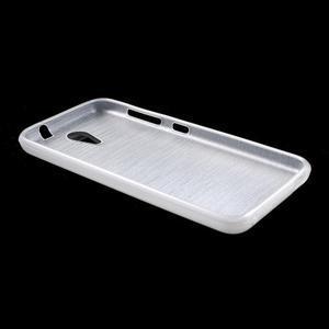 Brushed hladký gelový obal na HTC Desire 620 - bílý - 3