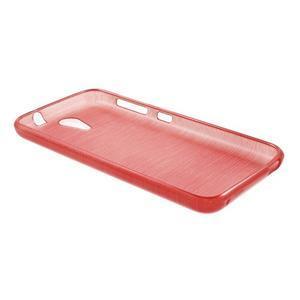 Brushed hladký gelový obal na HTC Desire 620 - červený - 3