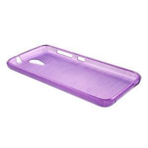 Brushed hladký gélový obal pre HTC Desire 620 - fialový - 3