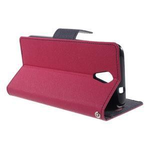 Diary PU kožené puzdro pre mobil HTC Desire 620 - rose - 3