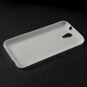 Matný gelový obal na mobil HTC Desire 620 - bílý - 3