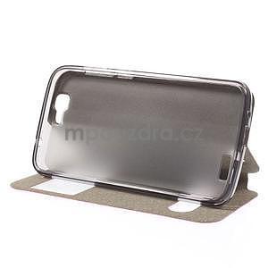 Klopové puzdro s okienkami na Huawei Ascend G7 - rose - 3