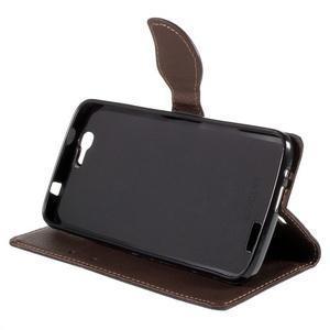 Čierne peňaženkové puzdro na Huawei Ascend G7 - 3